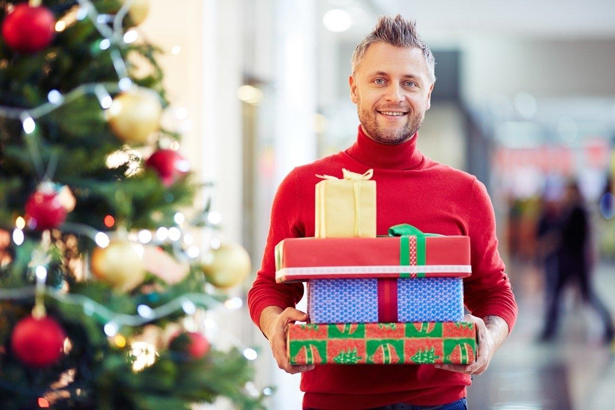 Vánoční dárky noví přátelé právě chodí