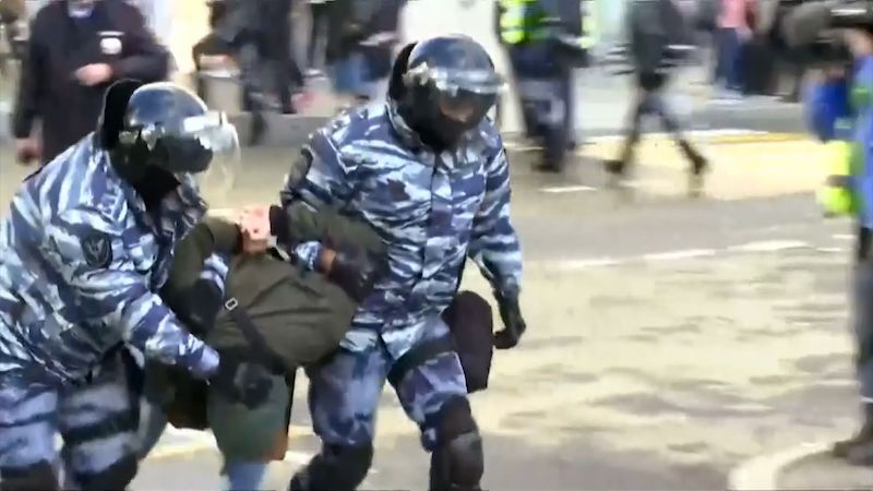 V Moskvě demonstrovalo 50 tisíc lidí