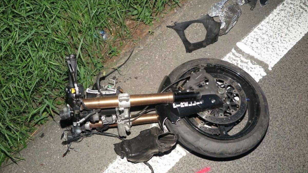 Na Klatovsku havaroval motorkář, zemřel na místě