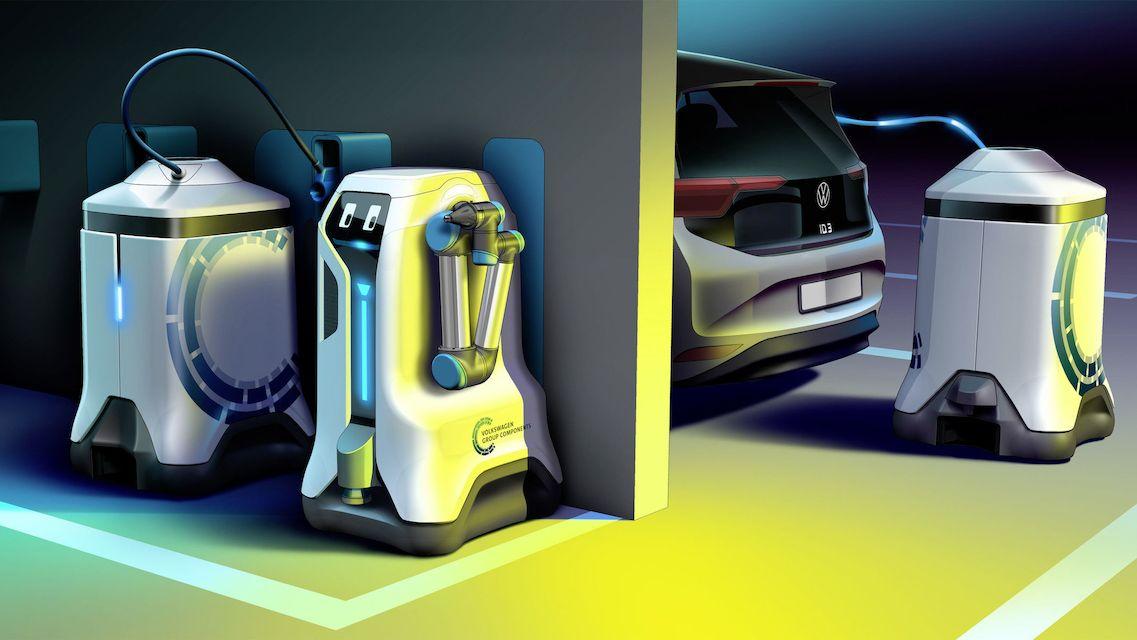 Sci-fi projekt Volkswagenu. Autonomní robot vám nabije auto