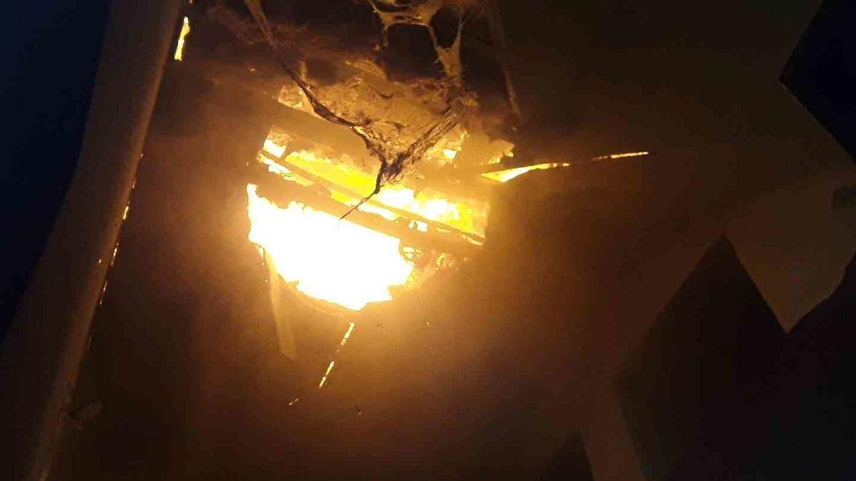 Hasiči likvidovali noční požár v Rapotíně