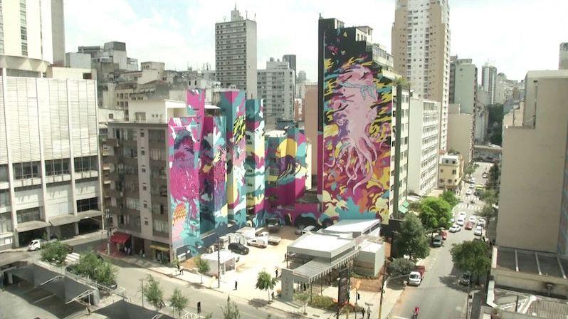 Uprostřed brazilské betonové džungle vzniká zřejmě největší graffiti světa