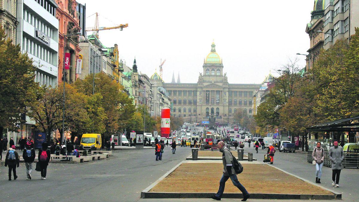 Tramvaje by mohly jezdit i v dolní části Václavského náměstí