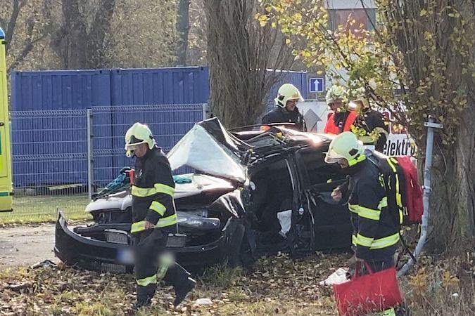 Řidič narazil s autem do stromu