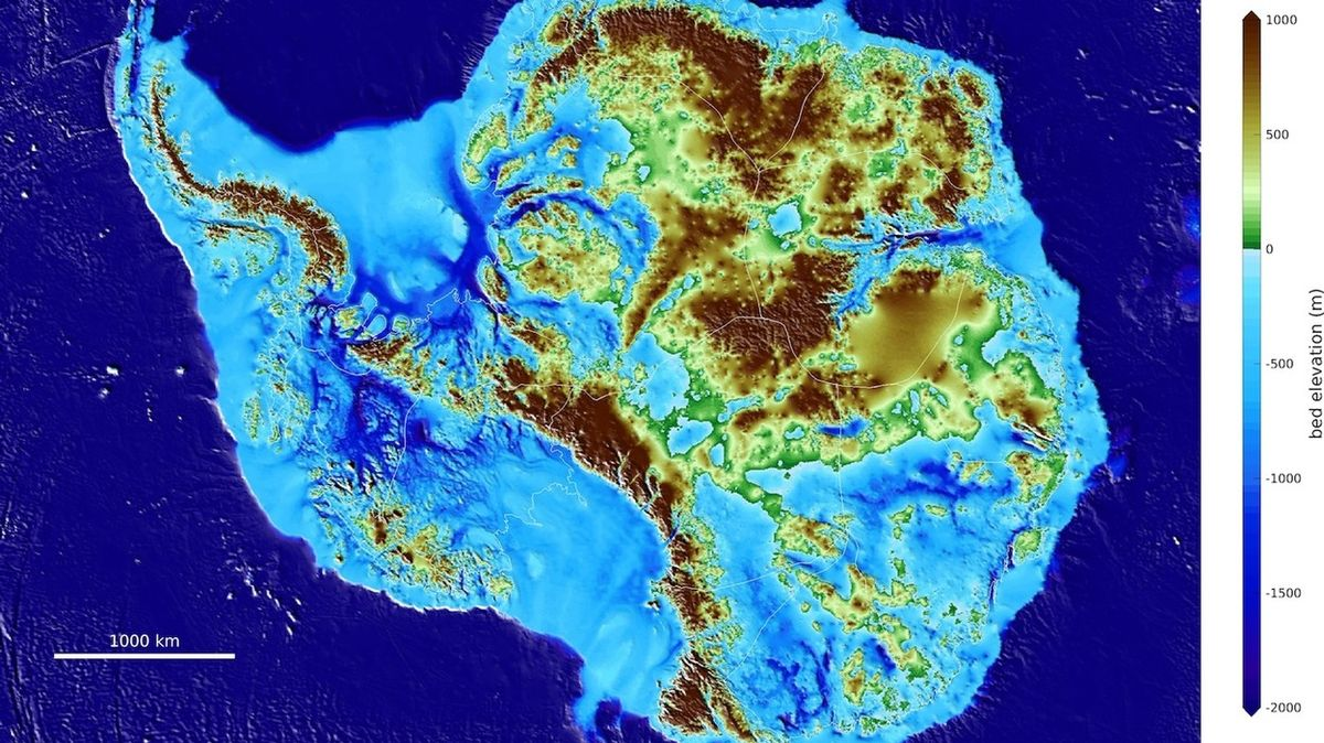 V Antarktidě objevili nové nejhlubší místo na pevnině