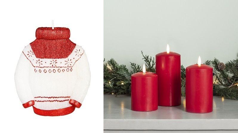 Tematicky laděné svíčky dodají interiéru tu pravou sváteční atmosféru
