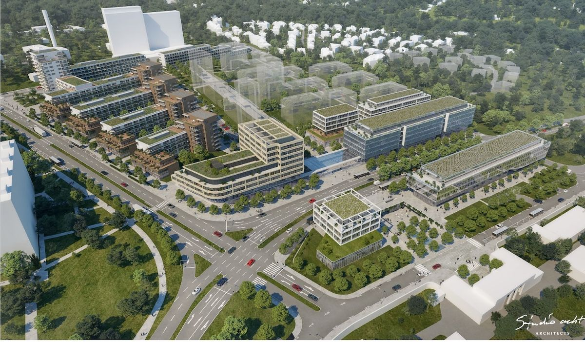 Vizualizace stanice Nemocnice Krč