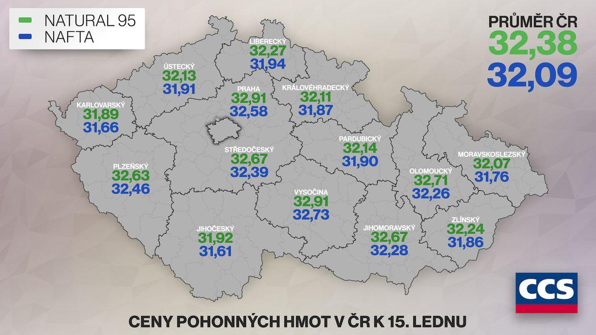 Pohonné hmoty v Česku už zdražily na říjnovou úroveň