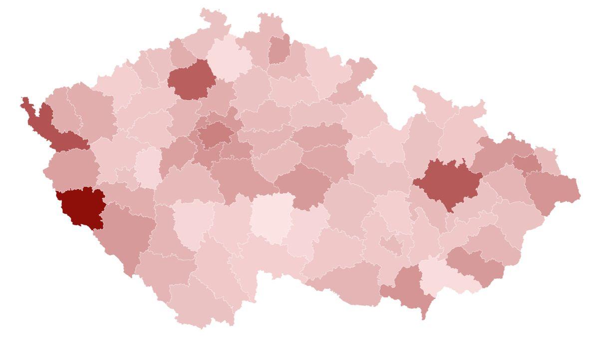 Koronavirus v Česku ustupuje. Ve kterých okresech ale nakažených stále přibývá?