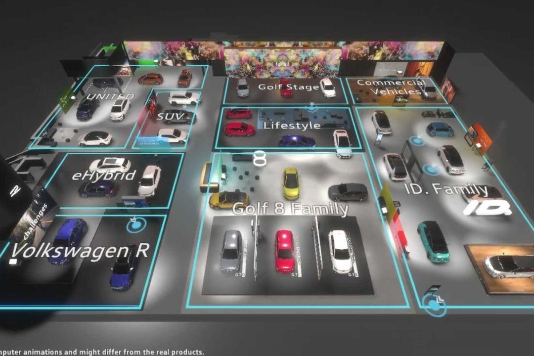 Virtuální prohlídka stánku Volkswagenu pro ženevský autosalon 2020