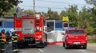 Nehoda na přejezdu v Černošicích