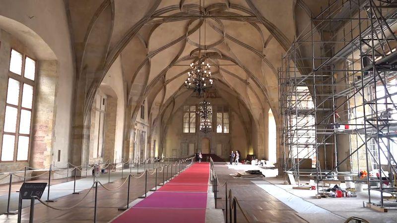 Rekonstrukce Vladislavského sálu potrvá do konce roku, 28. října se lešení sundá