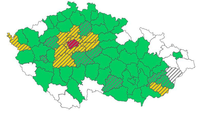 Semafor: Praha je červená