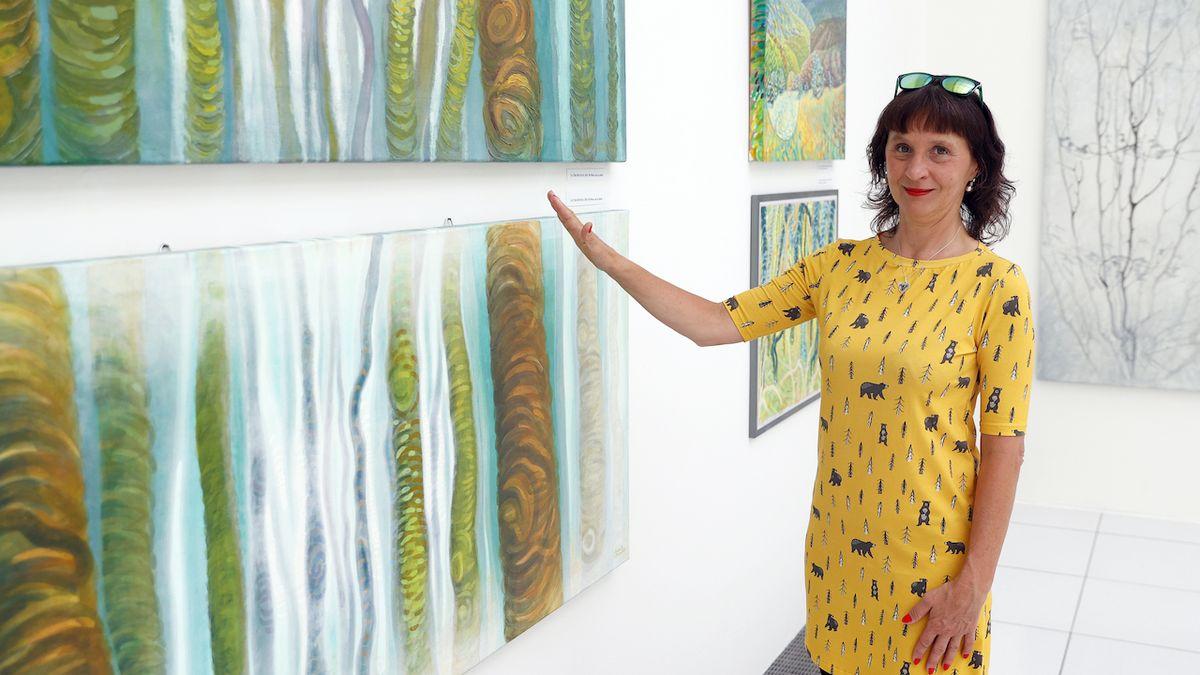 Malířka Monika Sichrovská: V parku Zelenov převzala příroda moc