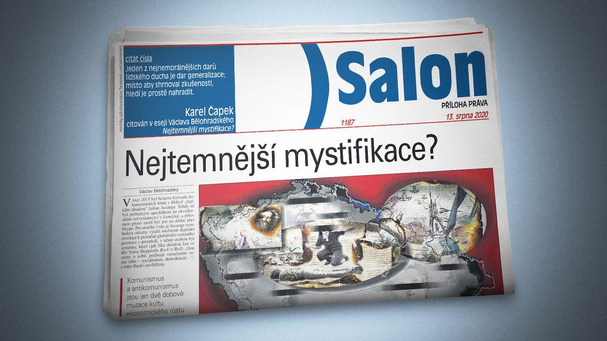 Vychází nový Salon: Václav Bělohradský o komunismu i antikomunismu a nově objevená próza Egona Bondyho