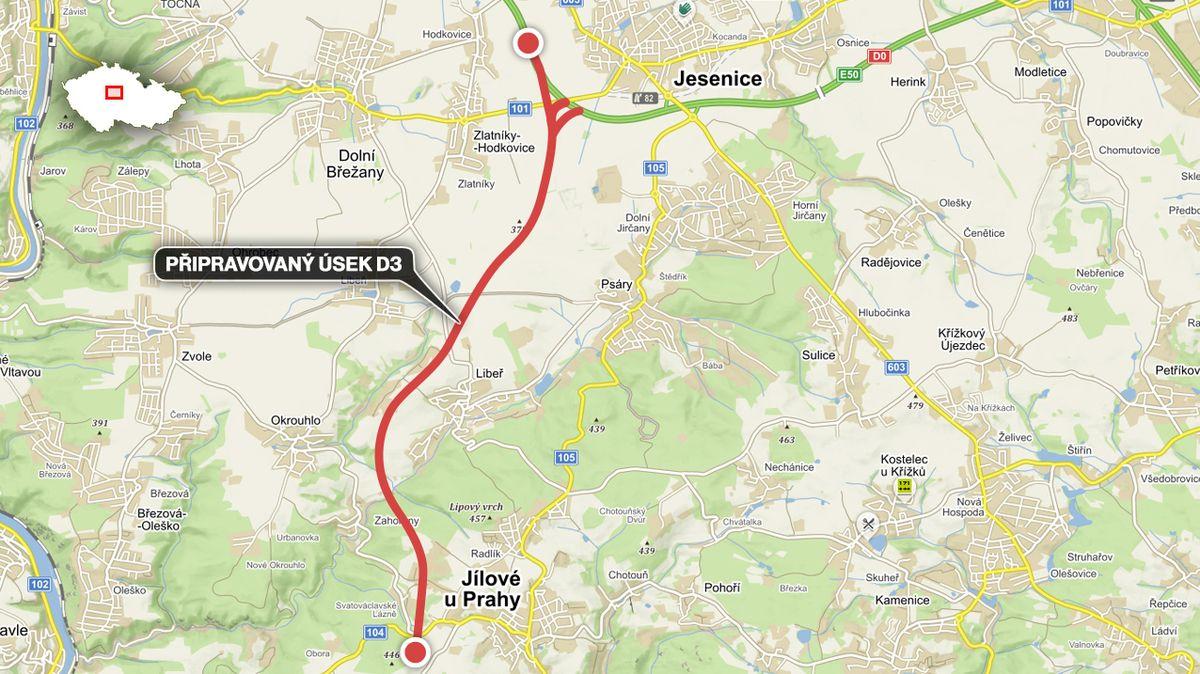 V Jesenici u Prahy vznikne nejširší dálnice v Česku