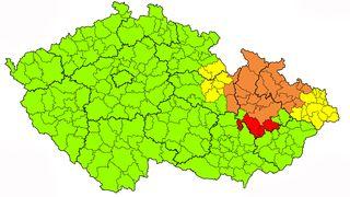 Na severovýchodě Česka hrozí záplavy, varovali meteorologové