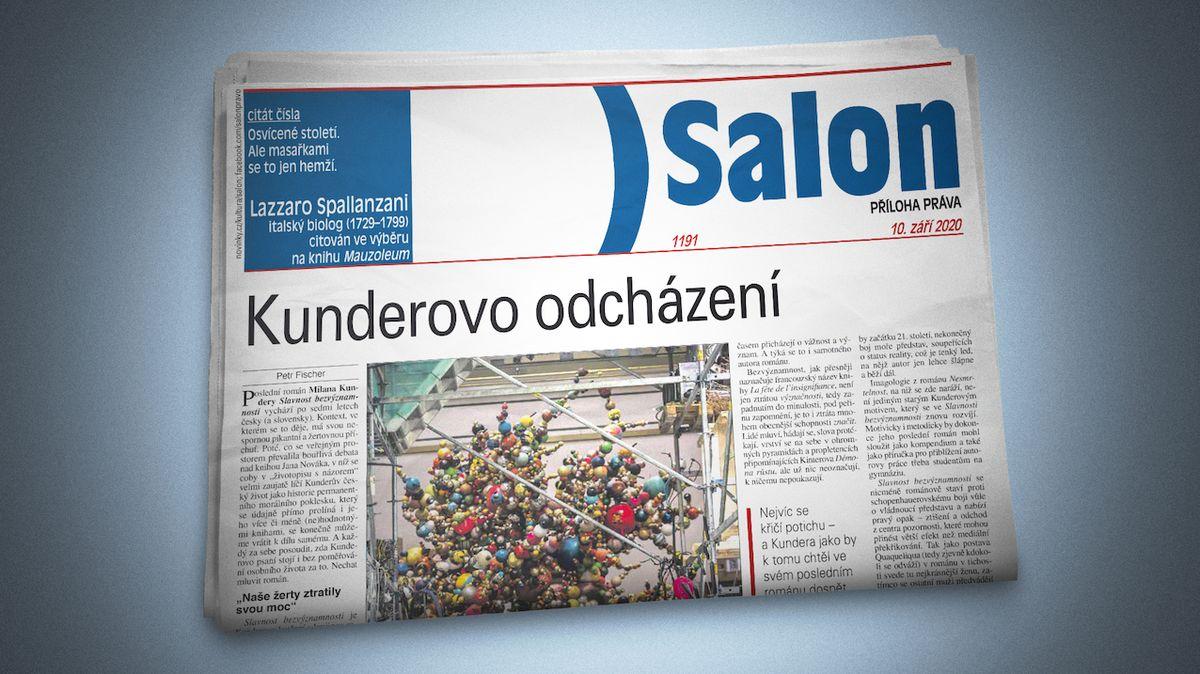 Vychází nový Salon: Velká recenze na román Milana Kundery Slavnost bezvýznamnosti