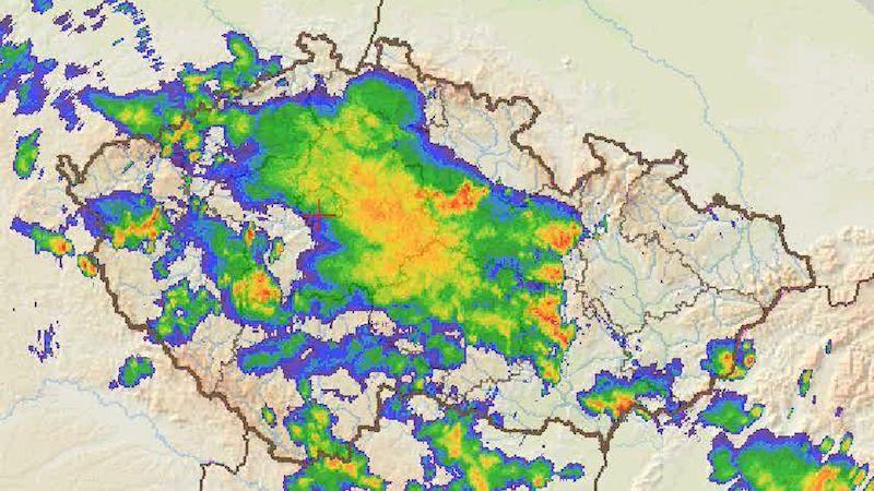 Extrémní srážky. Na Kolínsku napršelo během tří hodin 120 mm