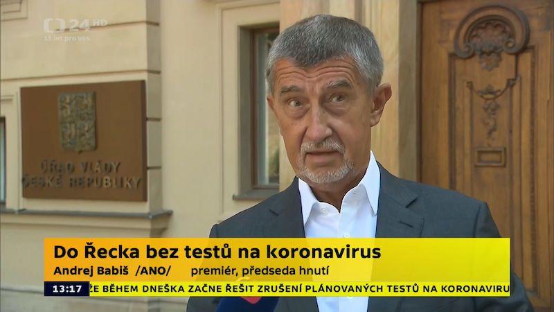 Na testy před cestou do Řecka nemusíte, ujistil Čechy Babiš