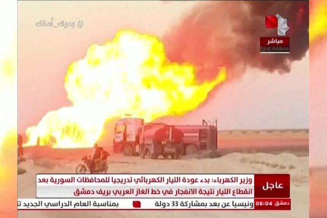 BEZ KOMENTÁŘE: Výbuch plynovodu v Sýrii dočasně přerušil dodávky elektřiny