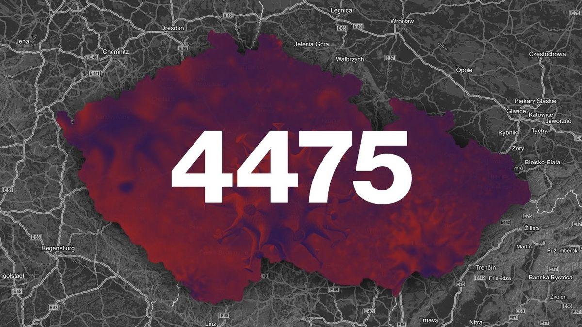 Covid-19 v Česku aktuálně: 62 mrtvých, čtyři a půl tisíce nakažených.