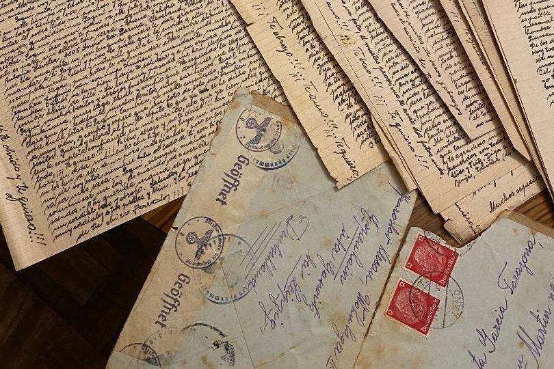 Nově objevené dopisy, které psal Klecan své španělské lásce Francisce.