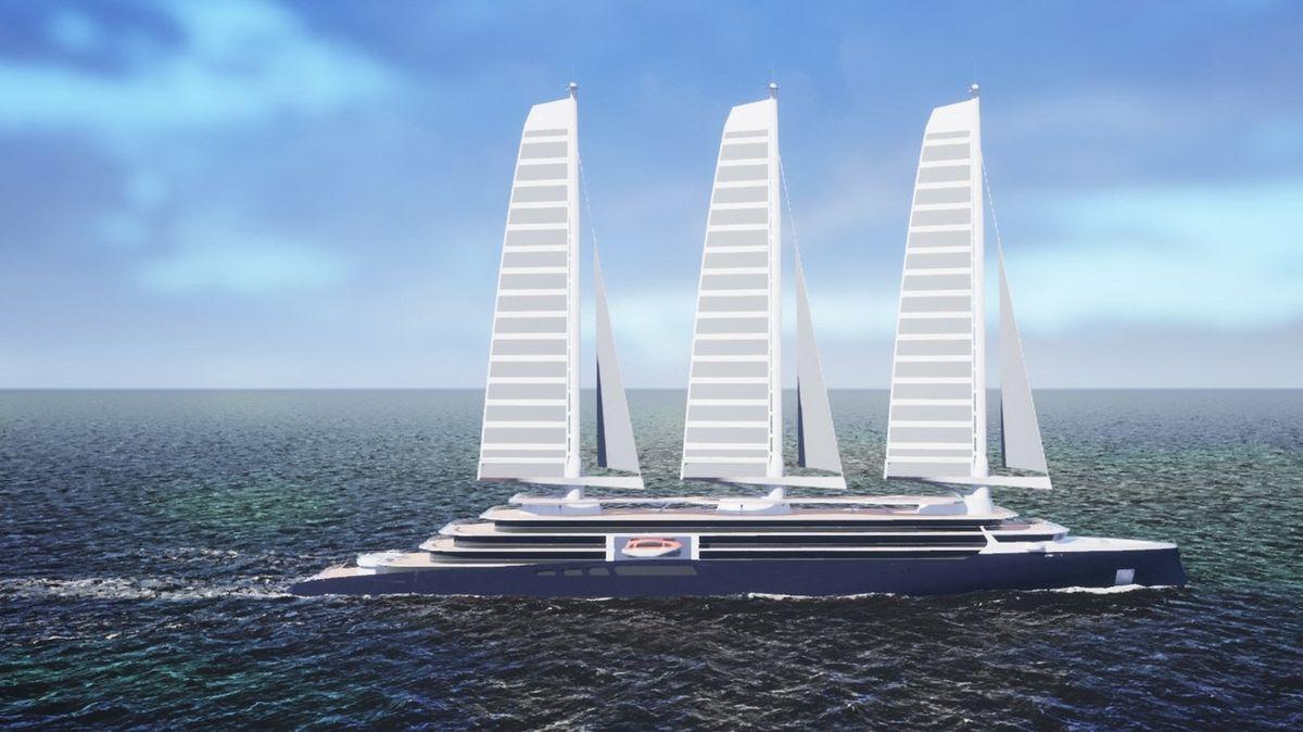 Výletní lodě přátelské k životnímu prostředí? Poháněly by je obří plachty