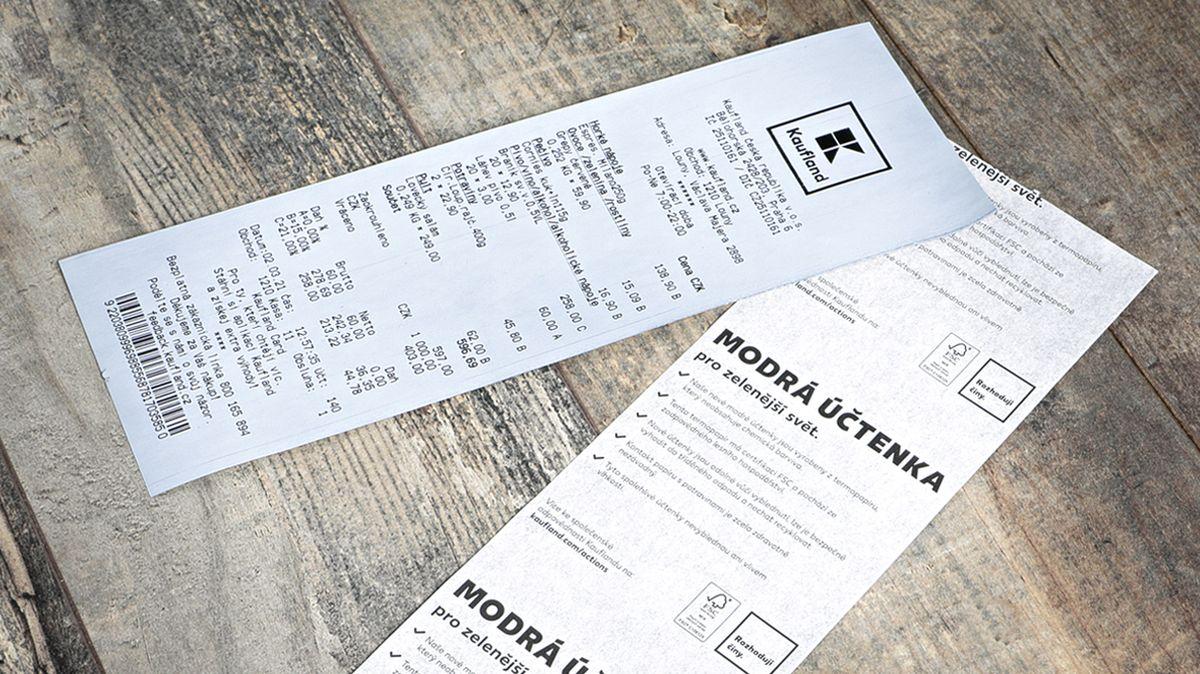 Kaufland zavádí modré recyklovatelné účtenky pro zelenější svět