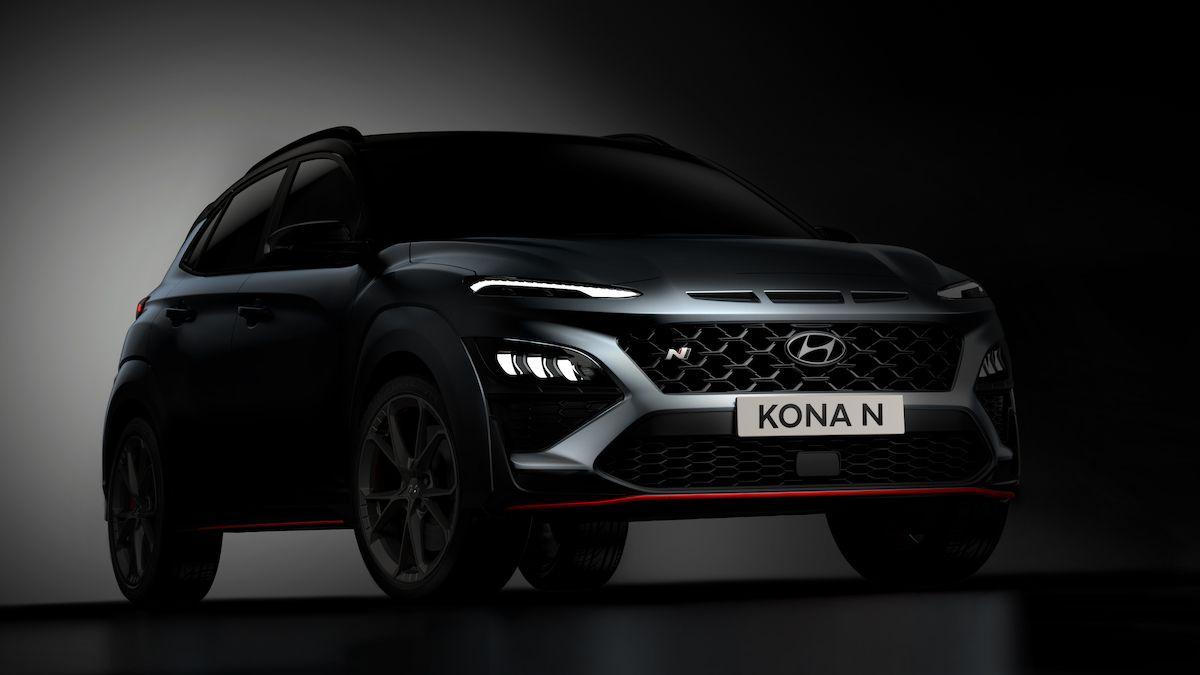 Ostrý crossover Hyundai Kona N shazuje maskování