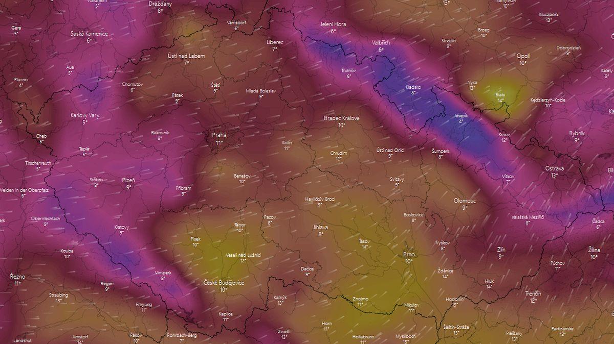 Česko zasáhne silný vítr, bude i sněžit, varovali meteorologové