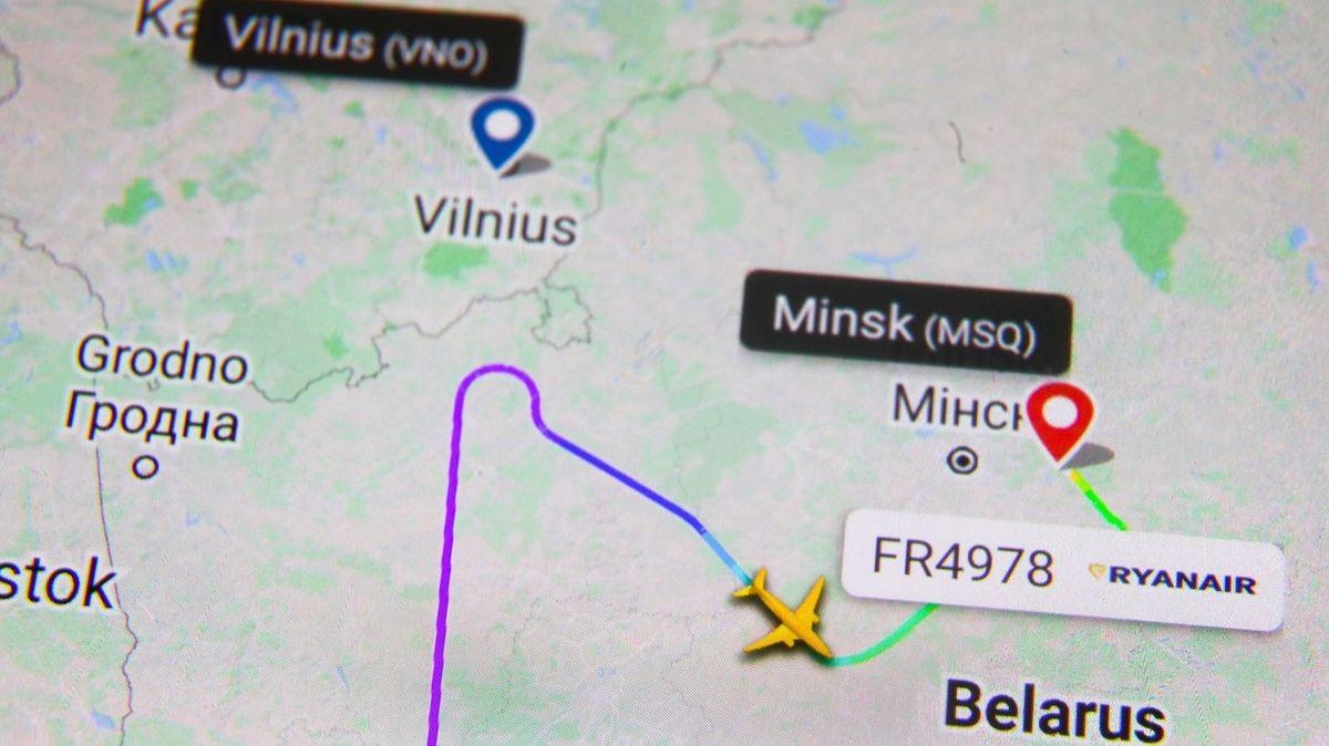 Věděla EU o hrozbě pro letadla nad Běloruskem? Bez komentáře, vzkazuje