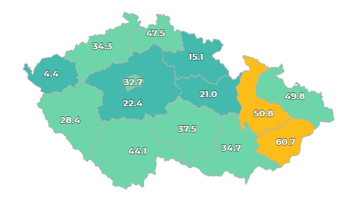 Karlovarský kraj září. O rychlejší rozvolňování ale neusiluje