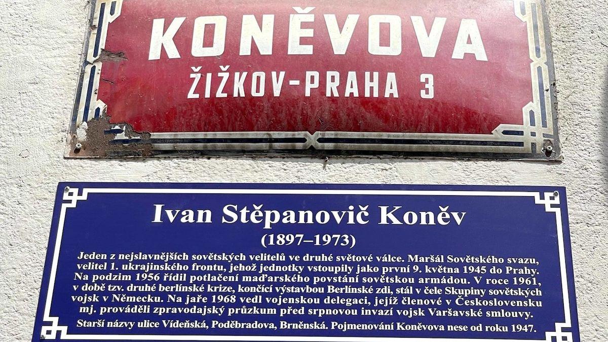 Koněvova ulice v Praze se přejmenovávat nebude, radnice instalovala vysvětlující tabulku