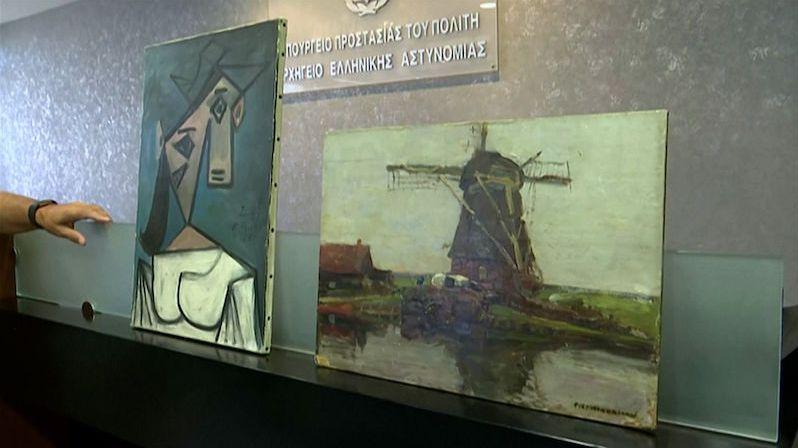 Znovunalezený vzácný Picasso upadl policistům na zem
