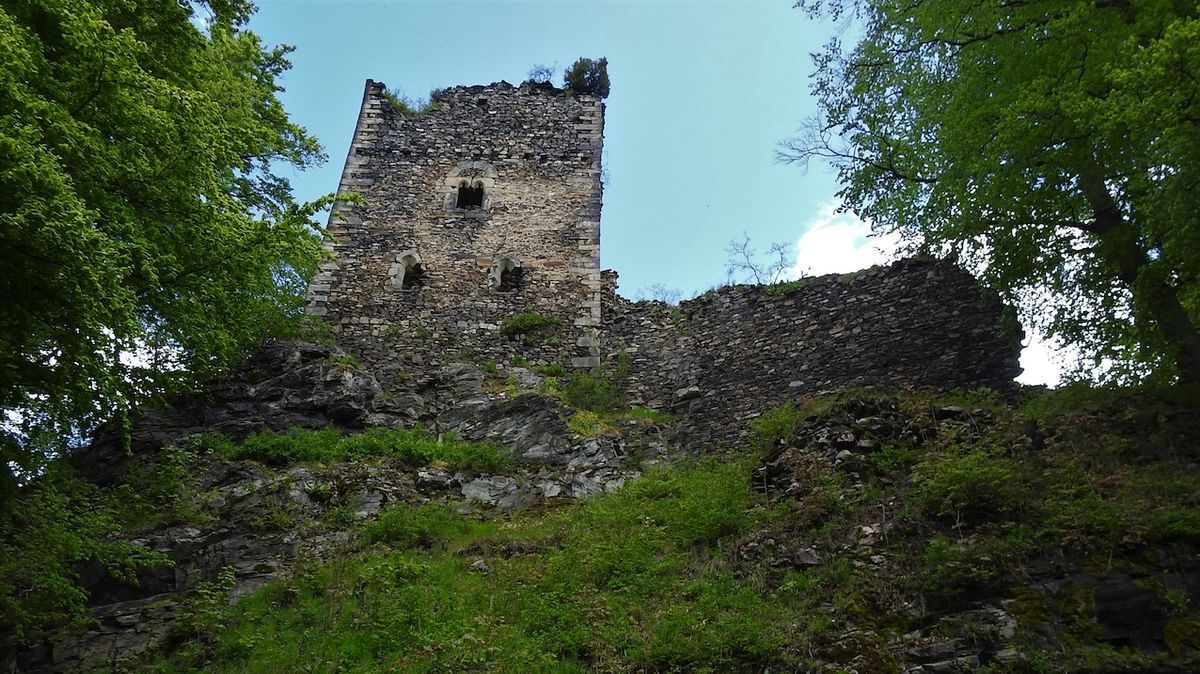 Ruina hradu Osek je jednou z nejrozsáhlejších ve střední Evropě