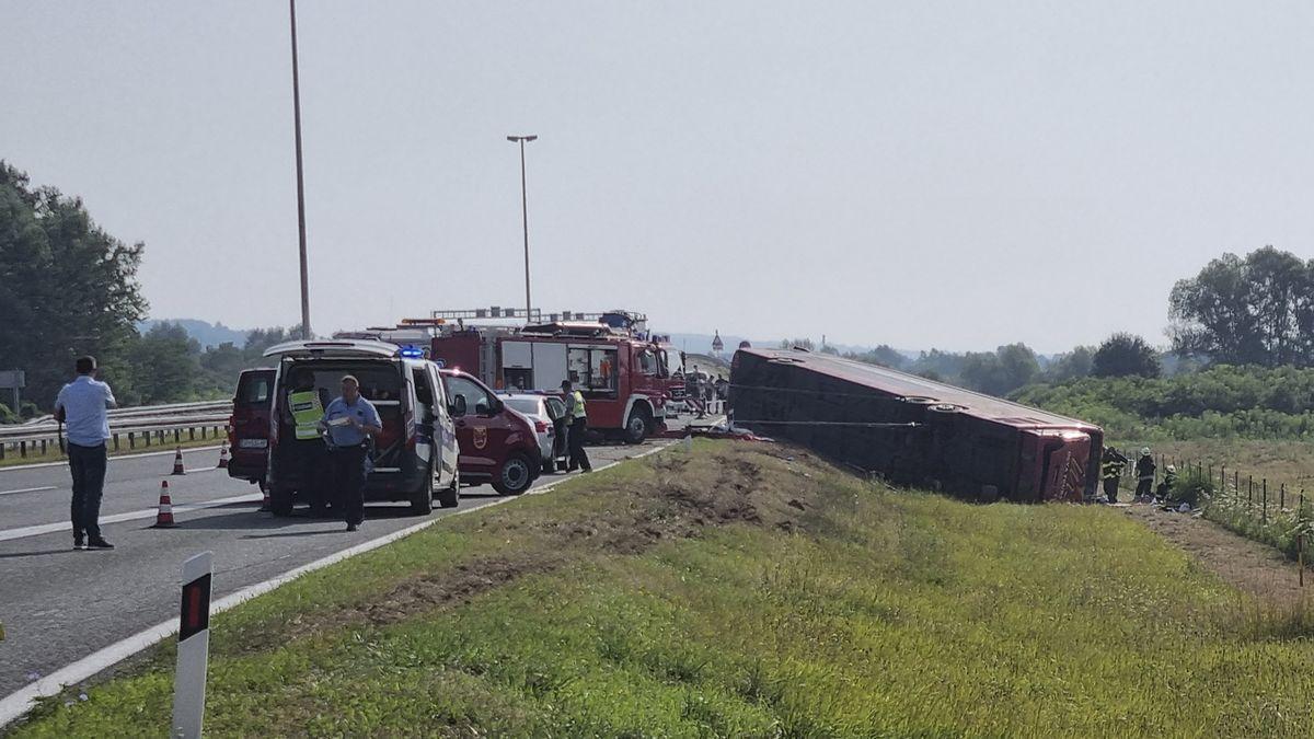 V Chorvatsku havaroval autobus, 10 mrtvých
