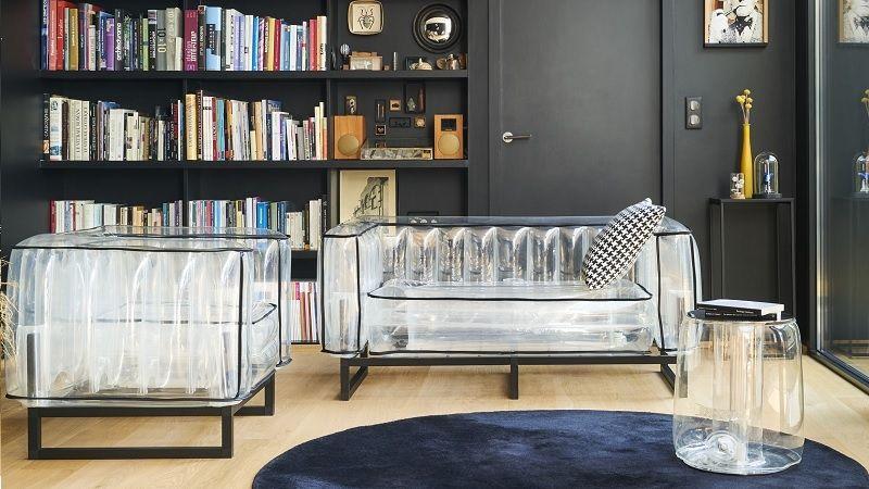 Nafukovací nábytek pobaví milovníky neotřelých interiérových řešení