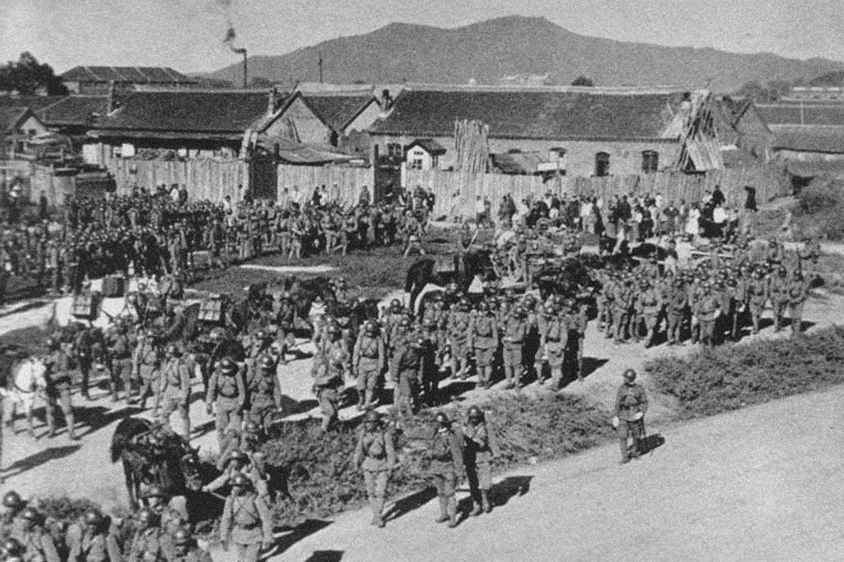 Japonští vojáci v Mukdenu v v září 1931