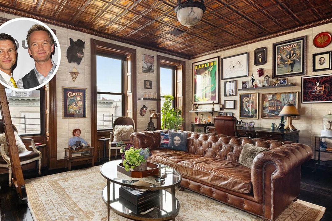 Herečtí manželé Neil Patrick Harris a David Burtka prodávají svůj dům v newyorském Harlemu.