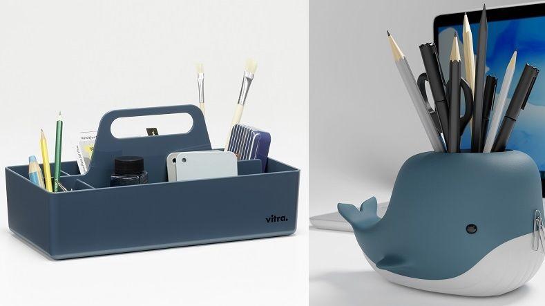 Zleva: Tool Box poskytne organizovaný prostor na šití, kancelářské i školní potřeby. Tužky a svorky pak pomůže udržet na místě magnetická rybka.