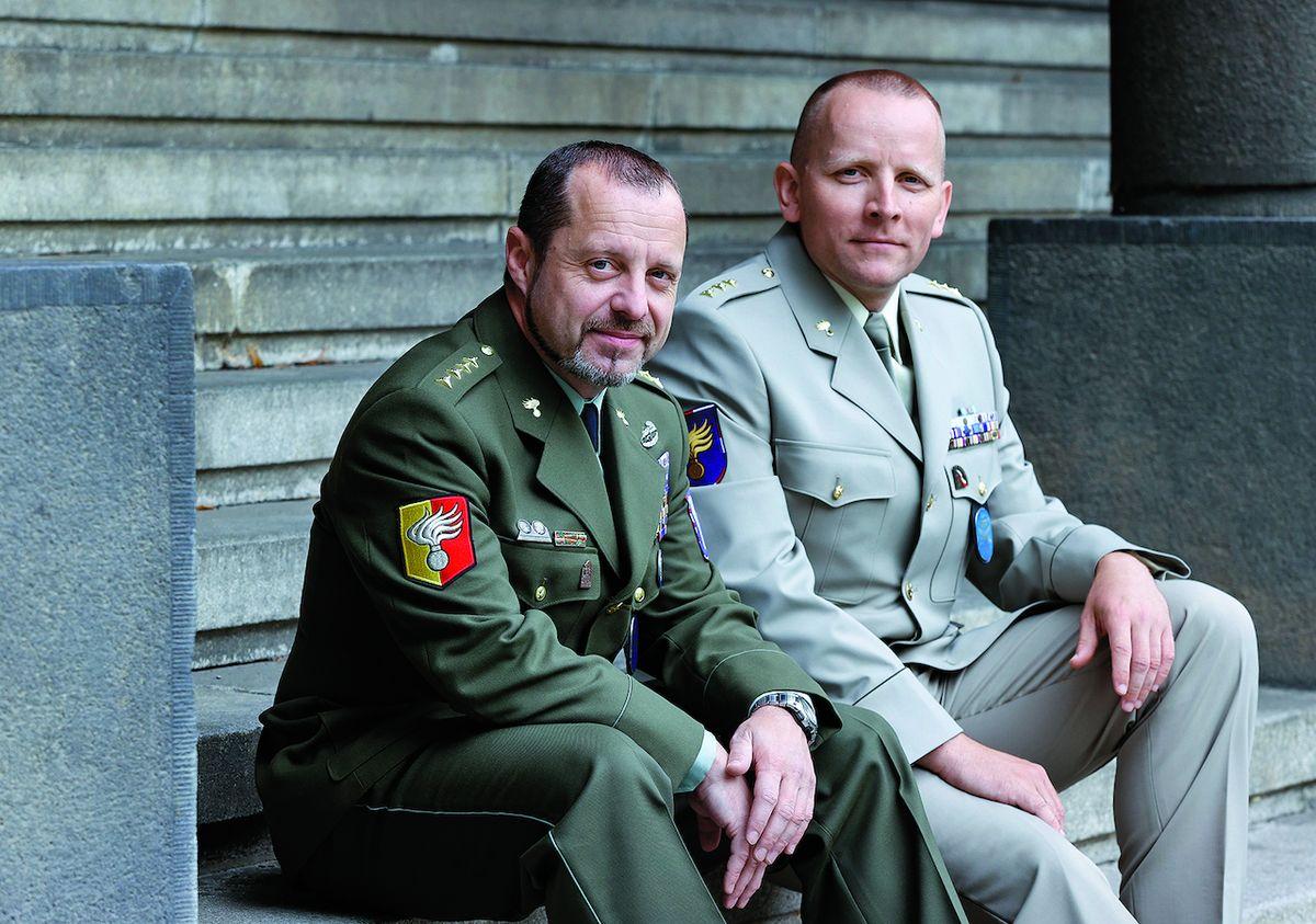 Teprve letos v květnu se z mise vrátil Martin Horský (vlevo). Stanislav Rimkevič tam byl naposled loni.
