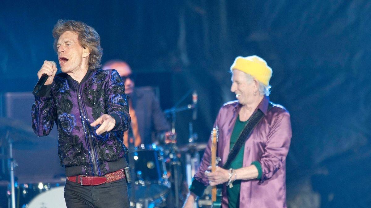 Rolling Stones na koncertu v Charlotte v rámci svého amerického turné.