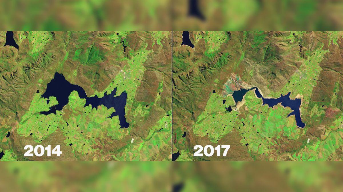 Šokující snímky NASA ukazují, jak klimatické události proměňují naši planetu