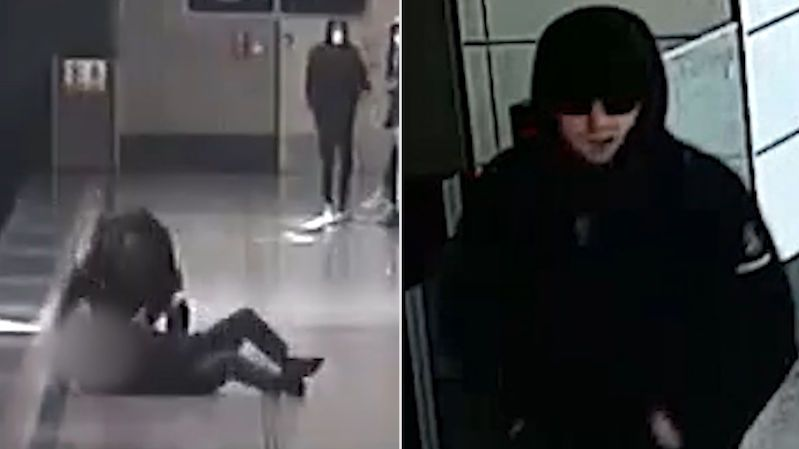 Napadení seniora v metru