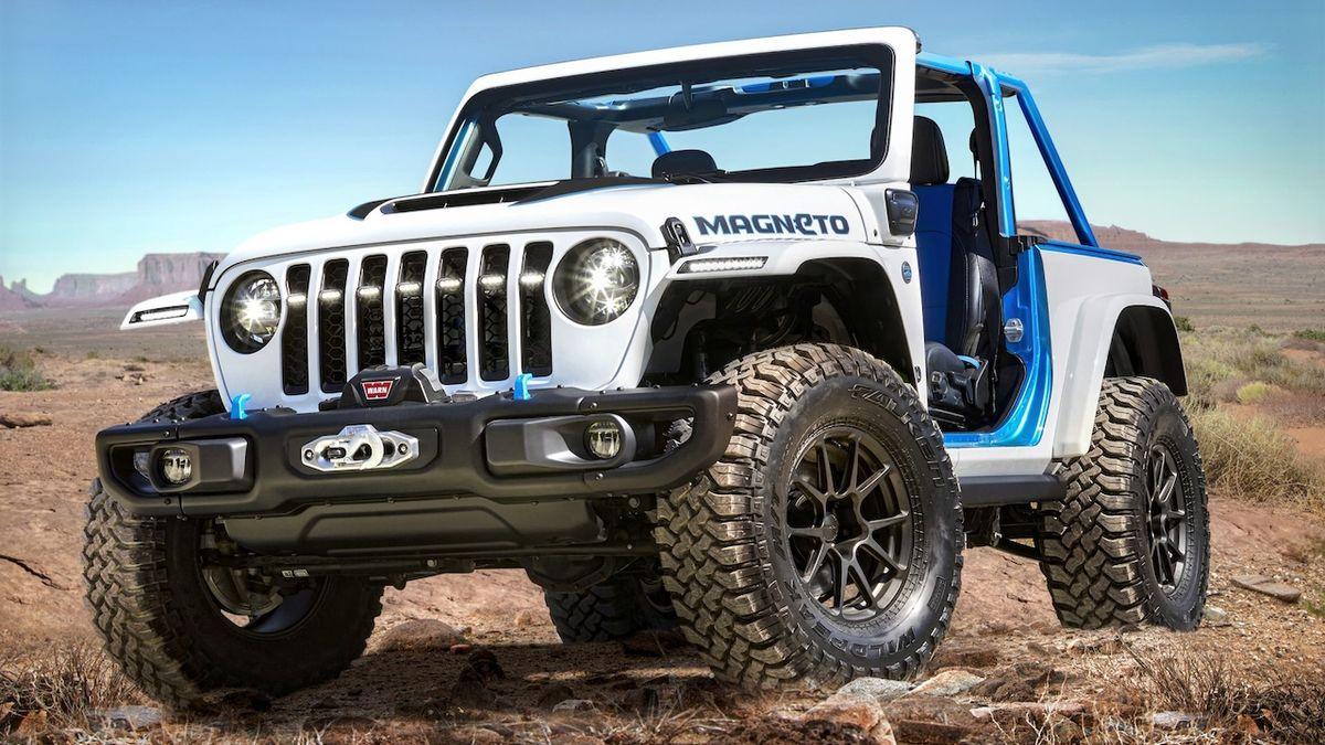 Elektrický Jeep Wrangler je tu. Koncept se ukáže v poušti Moab