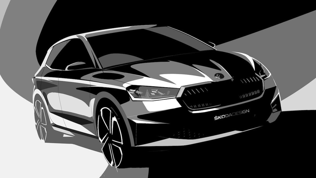 Škoda ukazuje novou fabii na designérských nákresech