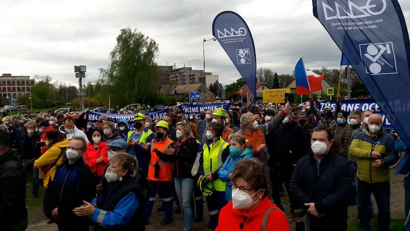 Zaměstnanci protestovali proti majiteli huti Liberty Ostrava