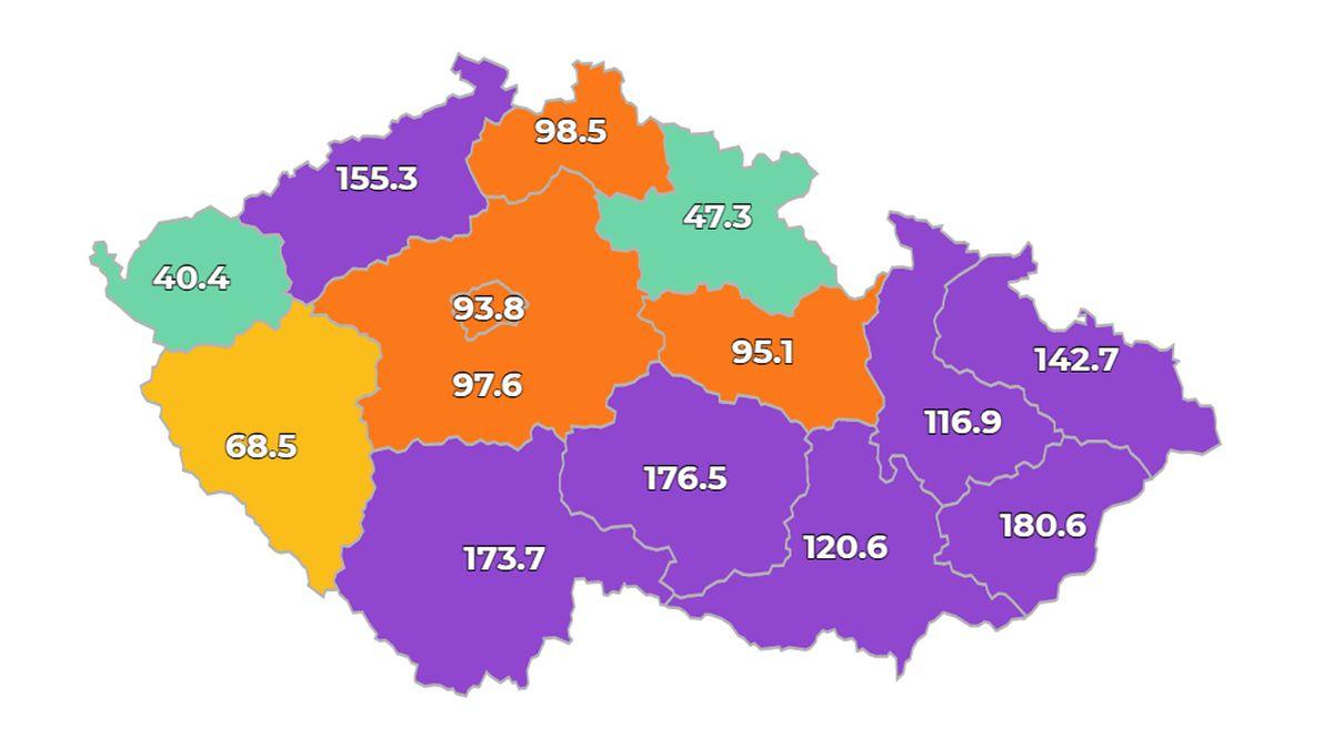 V Česku přibylo 1857 nově nakažených