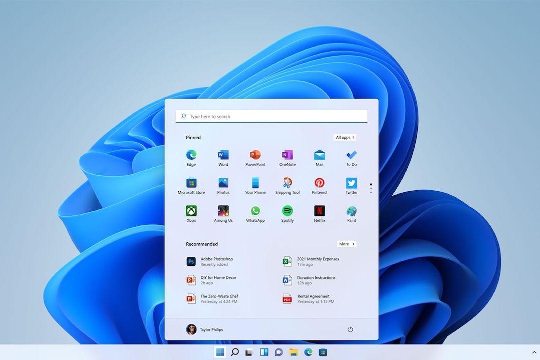 Ukázka Windows 11